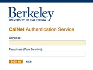CalNet ID login